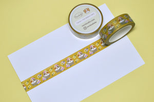 Guinea pig and Flowers Washi Tape
