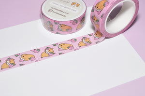 Pink Guinea pig washi tape for Guinea lovers, Guinea pig lover gift, cavy gift