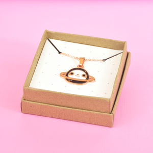Copper Plated Planet Sloth Necklace