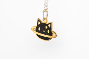 black cat necklace by Noristudio