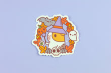 Guinea pig witch Halloween vinyl sticker by Noristudio