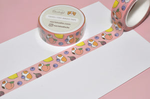 Guinea pig washi paper tape by Noristudio Guinea pig stationery Cavy gift