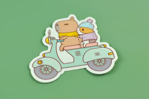 capybara vinyl sticker by Noristudio