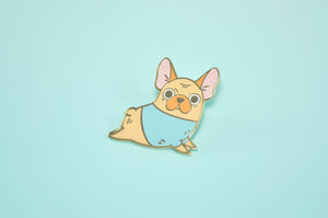 Yoga French Bulldog Enamel Pin by Noristudio