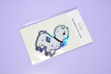 holographic sticker by Noristudio alpaca vinyl sticker