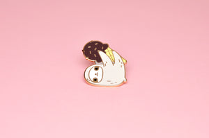 sloth lapel pin sloth lover gift cute enamel pin by Noristudio