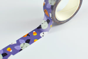 kawaii bat washi tape by Noristudio pumpkin washi tape candy corn washi tape