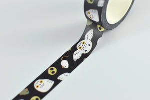 snowy owl washi masking tape by Noristudio