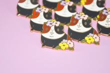 Guinea Pig With Flowers Enamel Pin