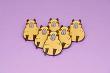 Cute capybara lapel pin by Noristudio