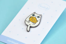 taiyaki cat enamel pin by noristudio