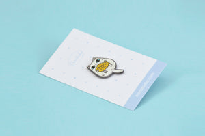 cute cat enamel pin by Noristudio