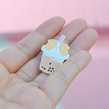 cute bubble tea lapel pin by Noristudio