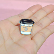 Moonch the capybara coffee pin by Noristudio