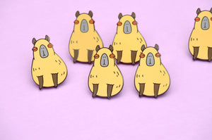 Capybara enamel pin by Noristudio
