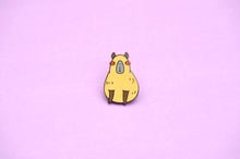 animal enamel pin capybara