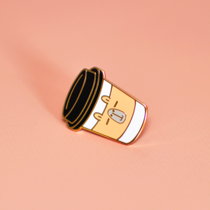 capybara coffee enamel pin by Noristudio