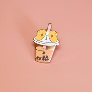 Guinea pig boba tea pin by Noristudio