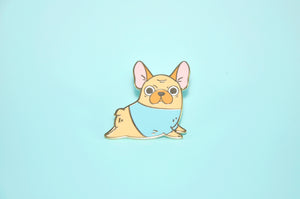 Cute French Bulldog Lapel Pin by Noristudio