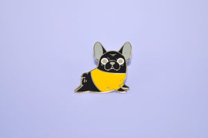 Black French Bulldog Enamel Pin by Noristudio