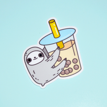 Bubble Tea Sloth Sticker by Noristudio