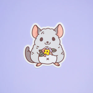 Cute Chinchilla vinyl sticker by Noristudio