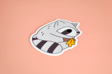 fat raccoon sticker by Noristudio