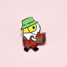 Bubu the Guinea Pig Apple Picking Enamel Pin by Noristudio