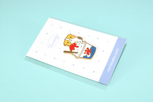 Bubu and Kakigori Japanese Shaved Ice Enamel Pin