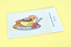 Bubu and Japanese Pudding Vinyl Sticker