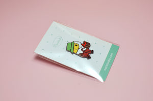 Bubu the Guinea Pig Apple Picking Enamel Pin