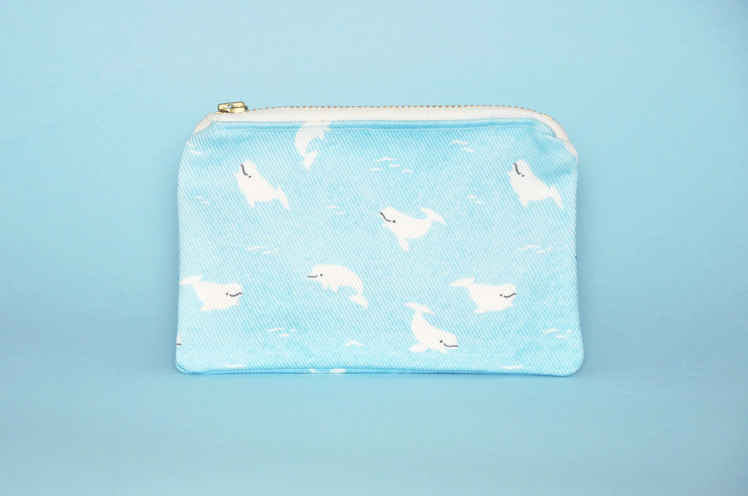 Arctic Blue, Animal Pattern Card Wallet