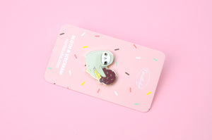 Cute Sloth Pin by Noristudio Sloth lover gift