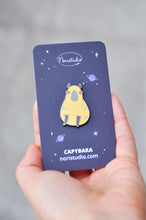 noristudio capybara pin cute animal pin