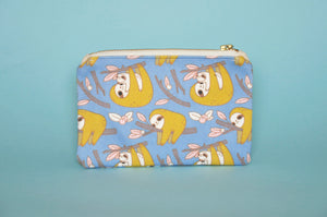sloth zipper pouch by Noristudio