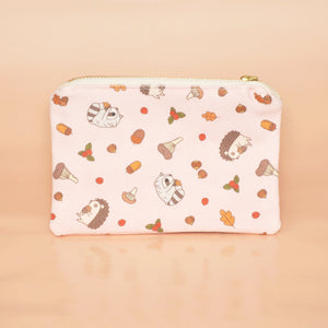 hedgehog and raccoon card wallet by Noristudio
