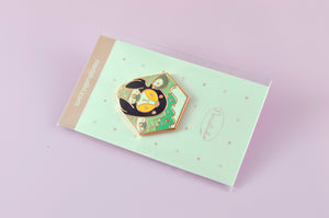 Cute baby penguin pin by Noristudio