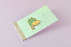 Bubu and Moonch Capybara with seal lapel pin by Noristudio