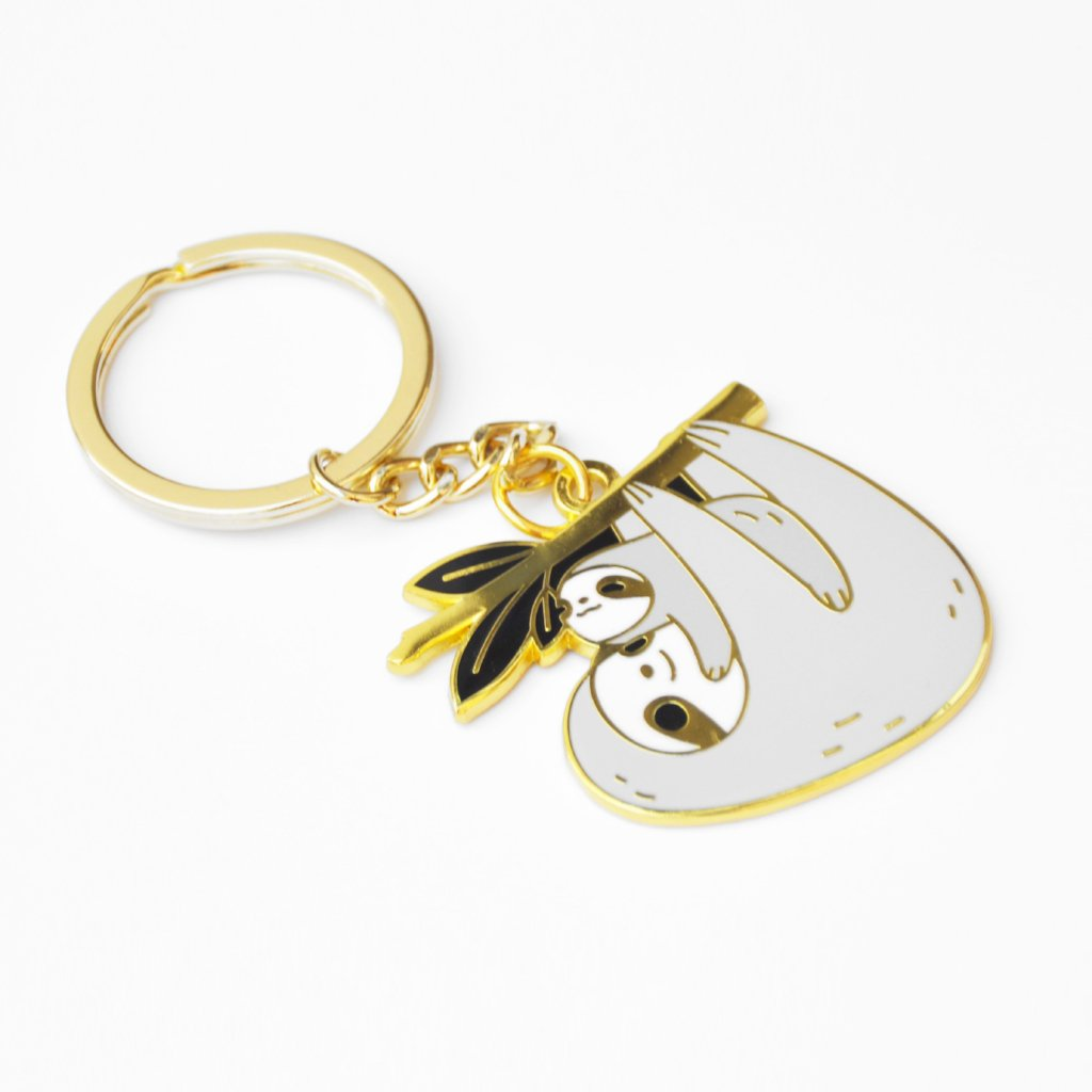 sloth keychain by noristudio