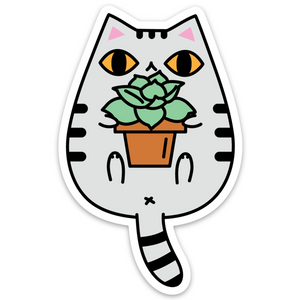 tabby cat sticker by Noristudio
