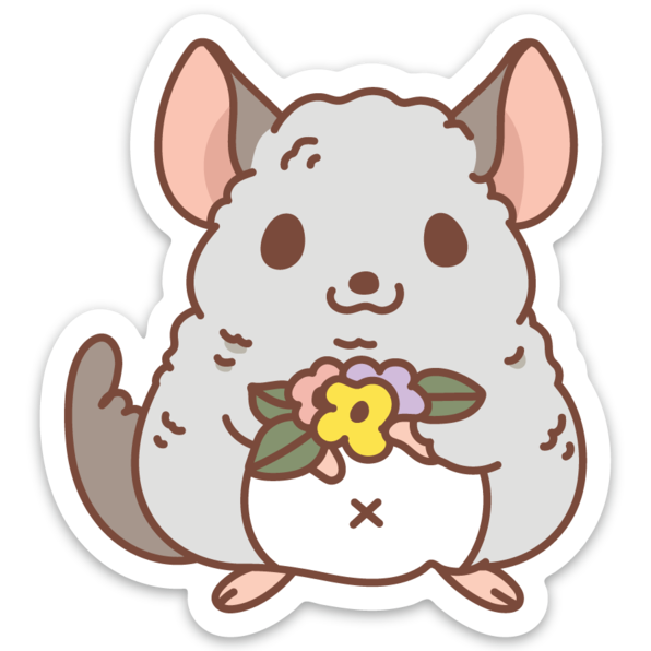 Chinchilla sticker by Noristudio