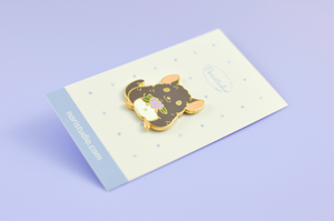 gray chinchilla pin by Noristudio