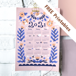 Noristudio Bubu and Moonch 2021 Calendar Free printables