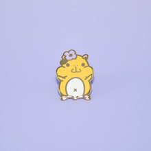 yellow hamster enamel pin by Noristudio