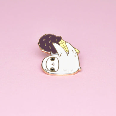cute sloth enamel pin