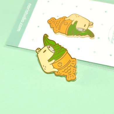 matcha ice-cream pin by Noristudio