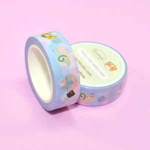 Bubu and Moonch Sakura and Japanese Snacks Washi Tape