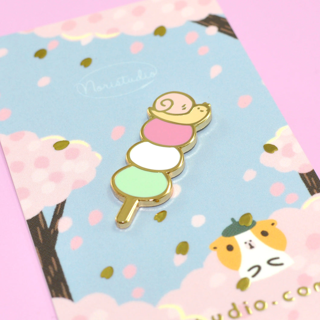 Josh the Snail with Hanami Dango Enamel Pin