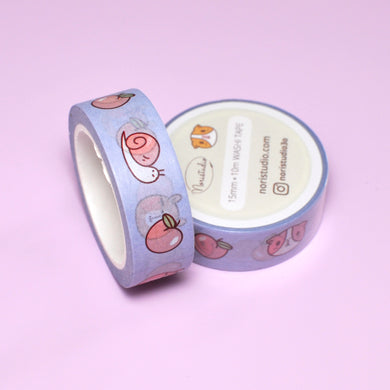 Cute peach washi tape by Noristudio Guinea pig washi tape Guinea pig lover gift