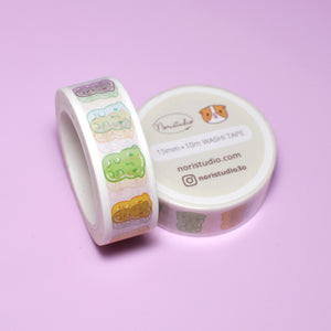 Bubu and Moonch Colorful Gummy Guinea Pigs Washi Tape